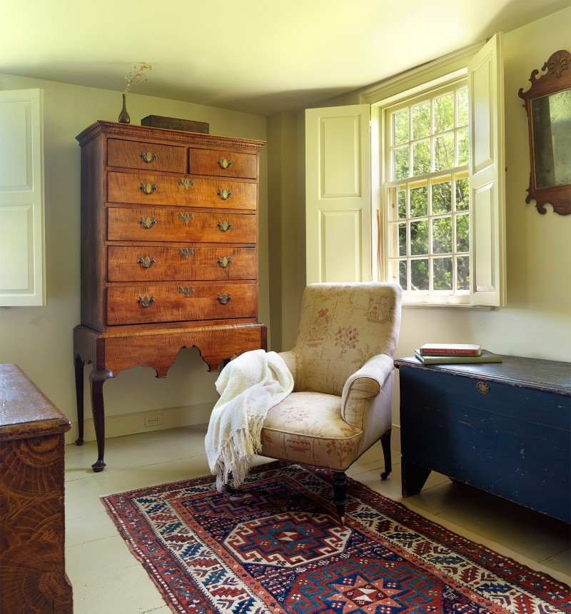 restored farmhouse with period furniture
