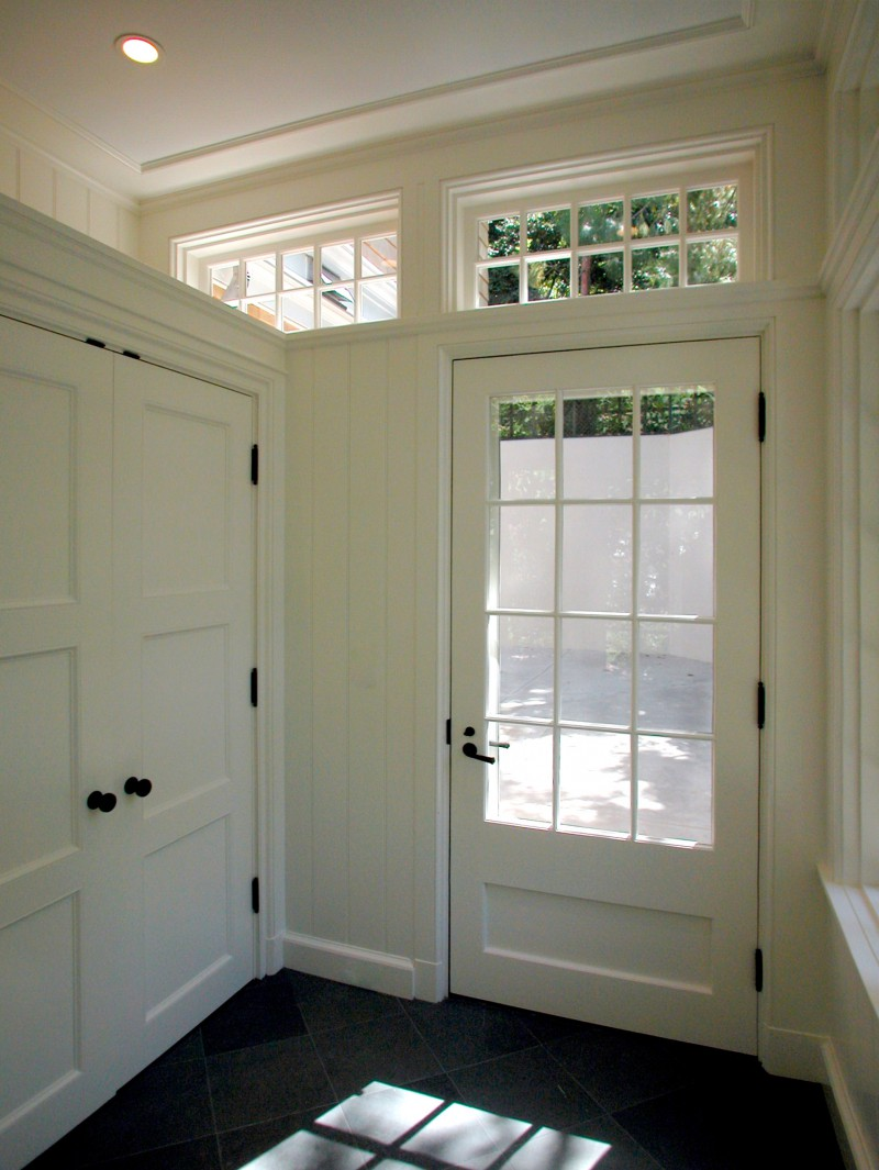 mudroom entry local millwork