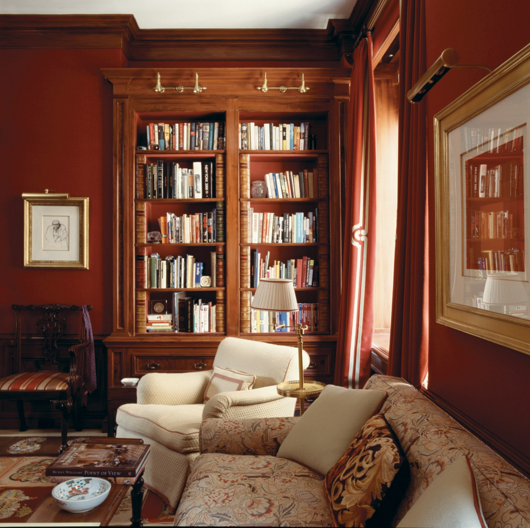 Park Avenue apartment library setting