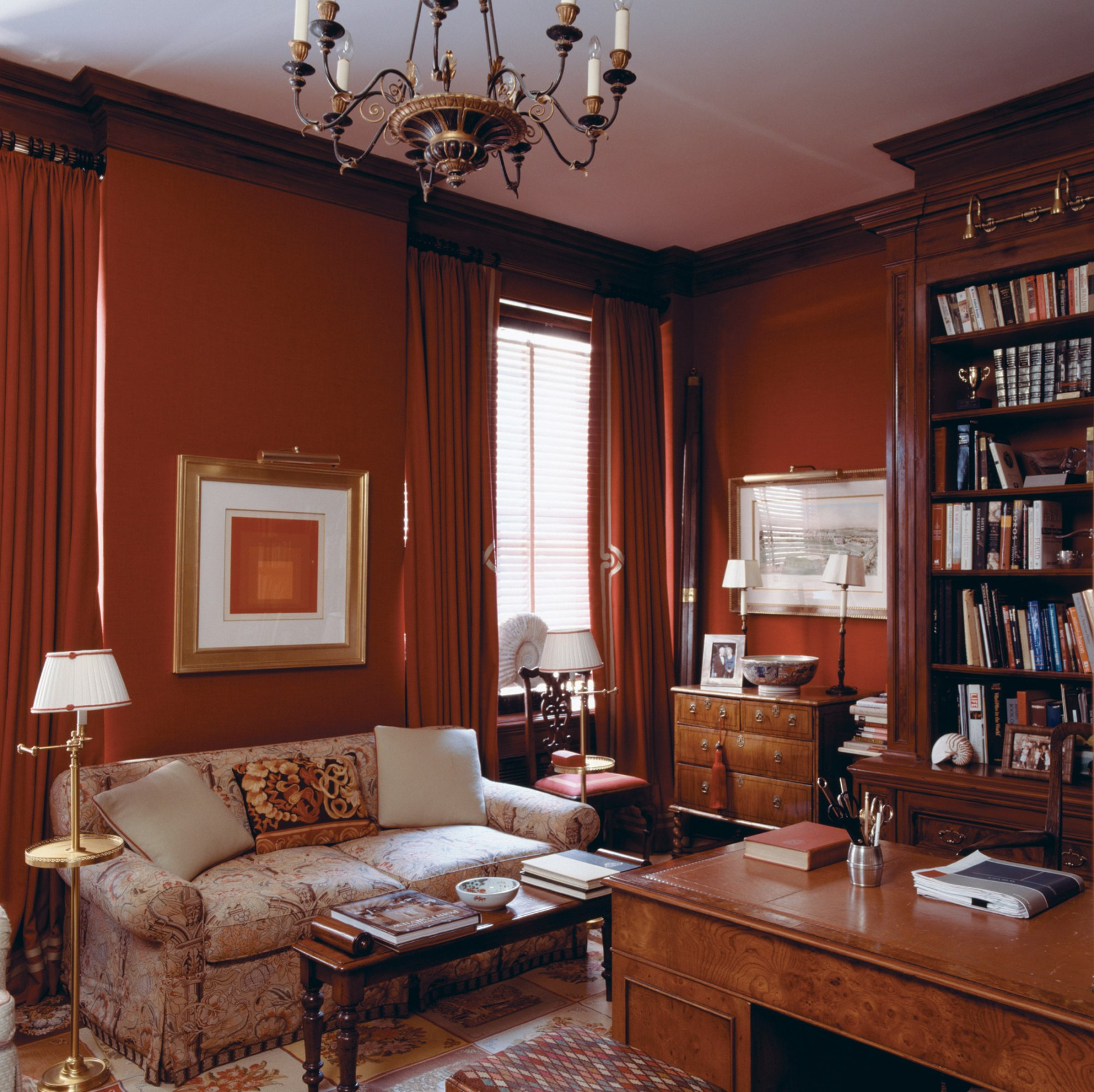 cozy and warm study formal window treatments