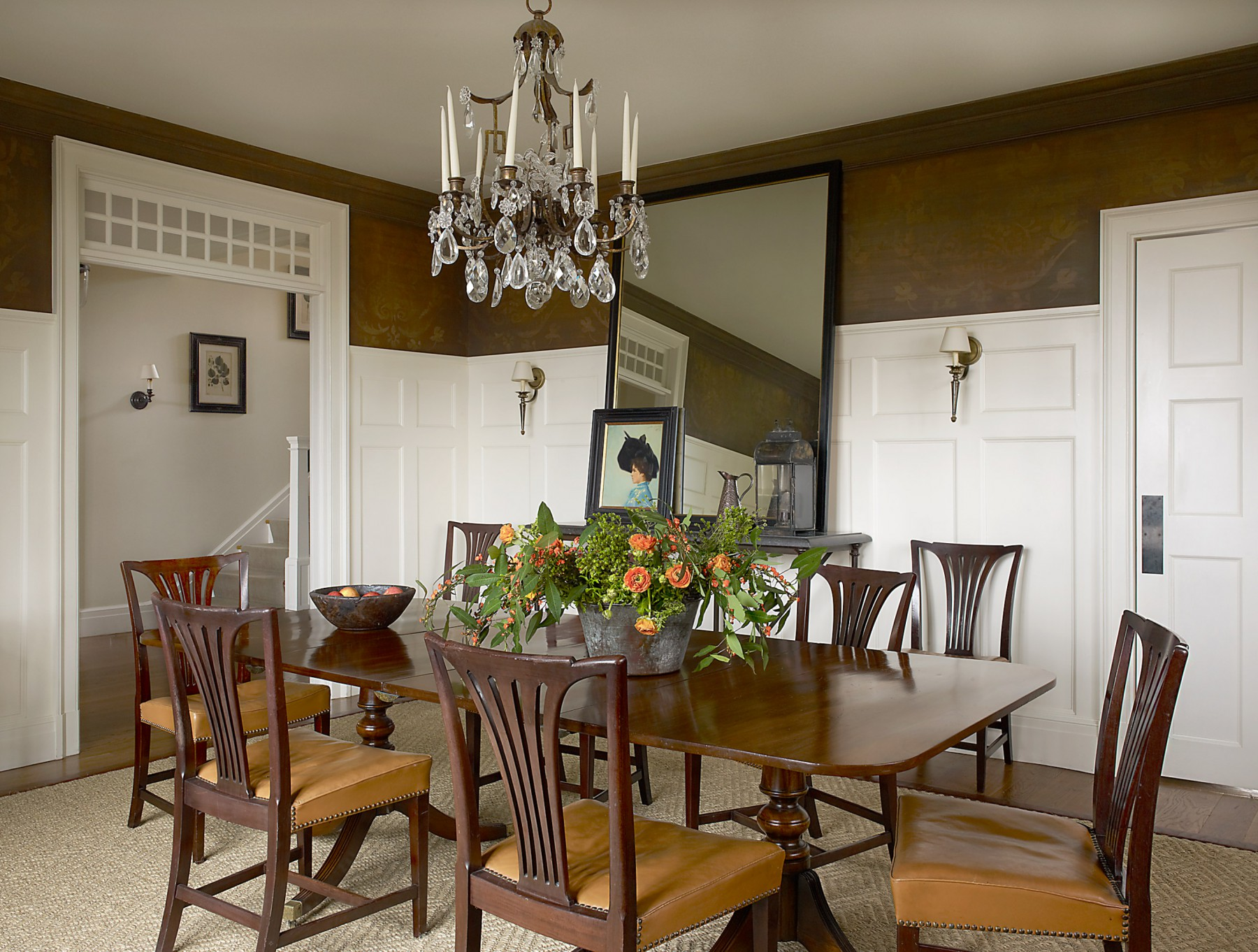 Beautiful dining room restored home