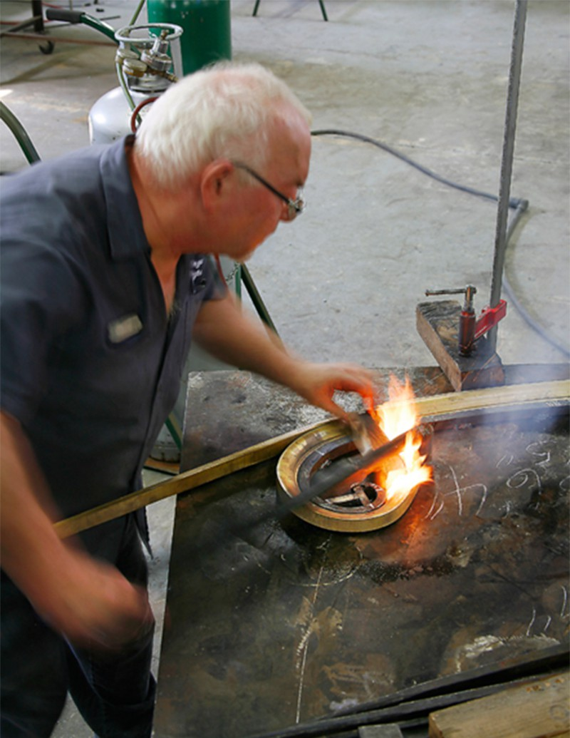 Forging new railing