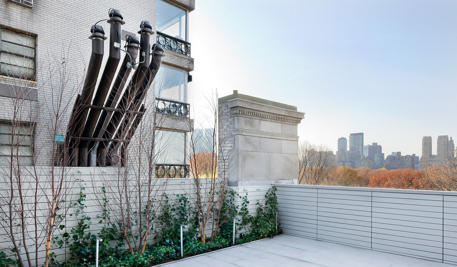 Added a floor to a new york town house with roof terrace